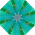 Shadow Faintly Faint Line Green Folding Umbrellas View1
