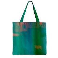 Shadow Faintly Faint Line Green Zipper Grocery Tote Bag by Mariart