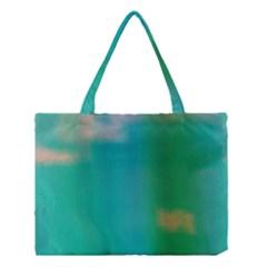 Shadow Faintly Faint Line Green Medium Tote Bag by Mariart