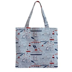 Ships Sails Zipper Grocery Tote Bag by Mariart