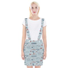 Ships Sails Braces Suspender Skirt by Mariart