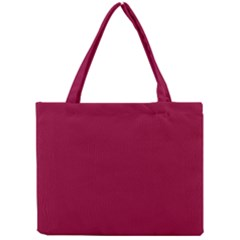 Burgundy Solid Color  Mini Tote Bag by SimplyColor