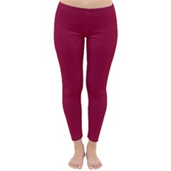 Burgundy Solid Color  Classic Winter Leggings by SimplyColor