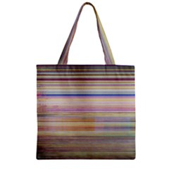 Shadow Faintly Faint Line Included Static Streaks And Blotches Color Zipper Grocery Tote Bag by Mariart
