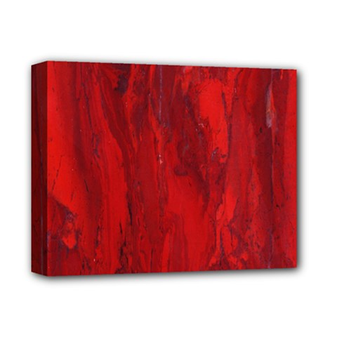 Stone Red Volcano Deluxe Canvas 14  X 11  by Mariart