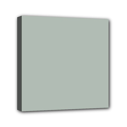 Ash Gray Solid Color  Mini Canvas 6  X 6  by SimplyColor