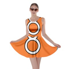 Taurus Symbol Sign Orange Skater Dress by Mariart