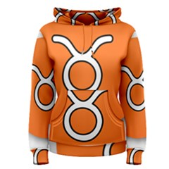 Taurus Symbol Sign Orange Women s Pullover Hoodie by Mariart