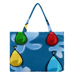 Water Balloon Blue Red Green Yellow Spot Medium Tote Bag by Mariart