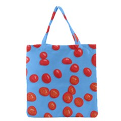 Tomatoes Fruite Slice Red Grocery Tote Bag by Mariart