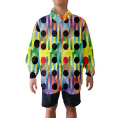 Watermark Circles Squares Polka Dots Rainbow Plaid Wind Breaker (kids)