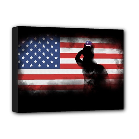 Honor Our Heroes On Memorial Day Deluxe Canvas 16  X 12   by Catifornia
