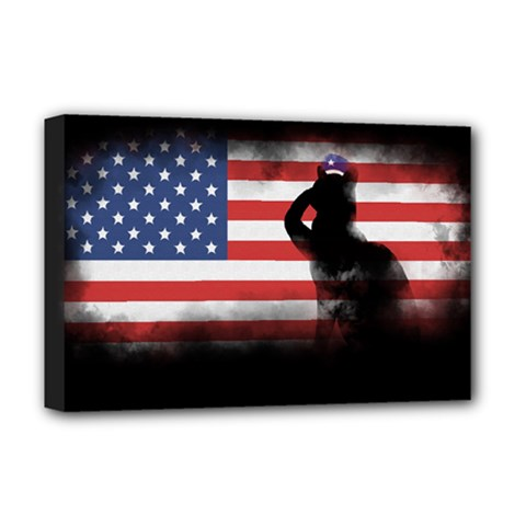 Honor Our Heroes On Memorial Day Deluxe Canvas 18  X 12   by Catifornia