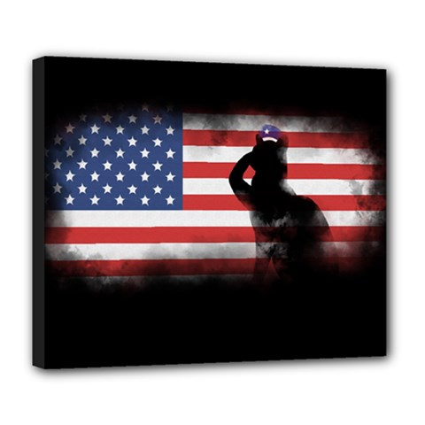 Honor Our Heroes On Memorial Day Deluxe Canvas 24  X 20   by Catifornia