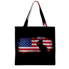 Honor Our Heroes On Memorial Day Grocery Tote Bag by Catifornia