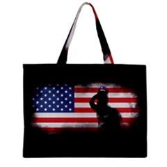 Honor Our Heroes On Memorial Day Mini Tote Bag by Catifornia