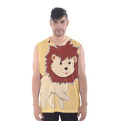 Happy Cartoon Baby Lion Men s Basketball Tank Top by Catifornia