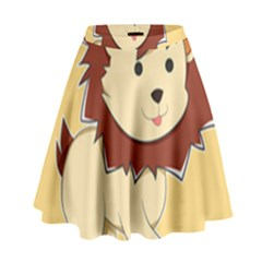 Happy Cartoon Baby Lion High Waist Skirt by Catifornia
