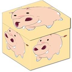 Happy Cartoon Baby Hippo Storage Stool 12   by Catifornia