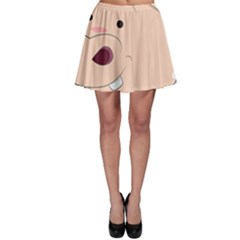 Happy Cartoon Baby Hippo Skater Skirt by Catifornia