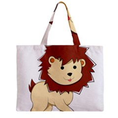 Happy Cartoon Baby Lion Zipper Mini Tote Bag by Catifornia