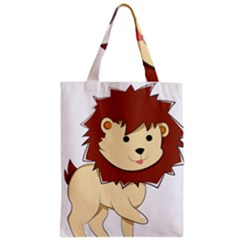 Happy Cartoon Baby Lion Zipper Classic Tote Bag by Catifornia