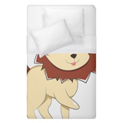 Happy Cartoon Baby Lion Duvet Cover (single Size) by Catifornia
