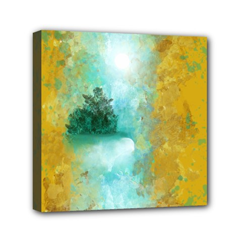Turquoise River Mini Canvas 6  X 6  by theunrulyartist