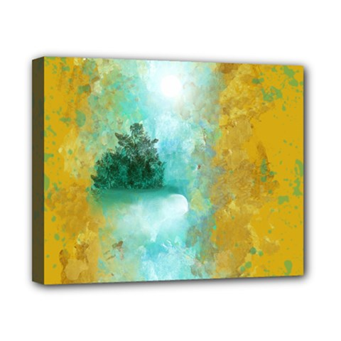 Turquoise River Canvas 10  X 8  by theunrulyartist