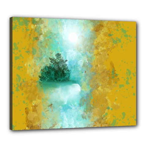 Turquoise River Canvas 24  X 20  by theunrulyartist