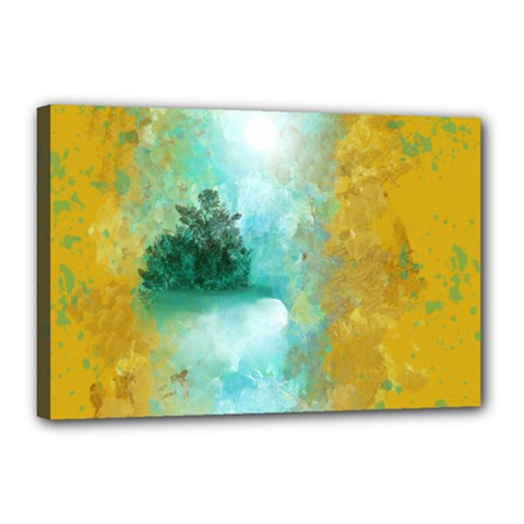 Turquoise River Canvas 18  X 12  by theunrulyartist