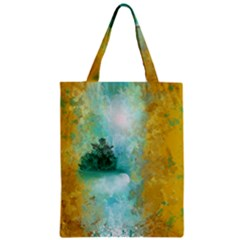 Turquoise River Zipper Classic Tote Bag by theunrulyartist