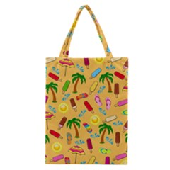 Beach Pattern Classic Tote Bag by Valentinaart