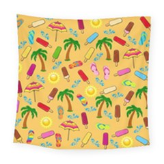 Beach Pattern Square Tapestry (large) by Valentinaart