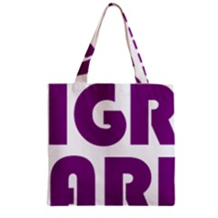 Migraine Warrior With Ribbon Zipper Grocery Tote Bag by MigraineursHideout