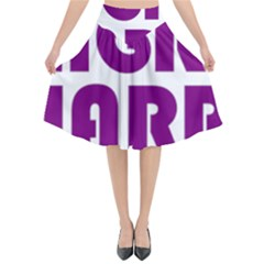 Migraine Warrior With Ribbon Flared Midi Skirt by MigraineursHideout