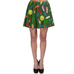 Beach Pattern Skater Skirt by Valentinaart