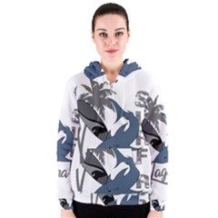 Surf   Laguna Women s Zipper Hoodie by Valentinaart