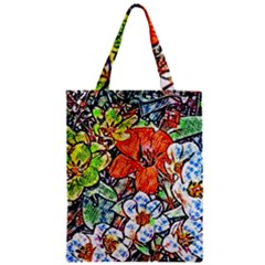 Hot Flowers 02 Zipper Classic Tote Bag by MoreColorsinLife