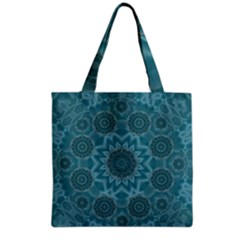 Wood And Stars In The Blue Pop Art Grocery Tote Bag by pepitasart