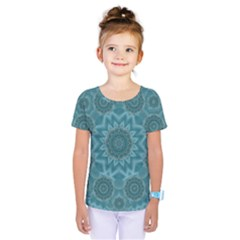 Wood And Stars In The Blue Pop Art Kids  One Piece Tee by pepitasart