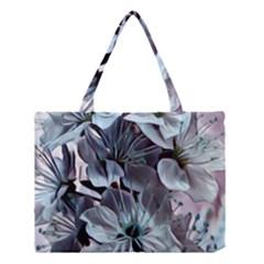 Wonderful Silky Flowers B Medium Tote Bag by MoreColorsinLife