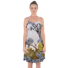 Morning Promise Ruffle Detail Chiffon Dress by oddzodd