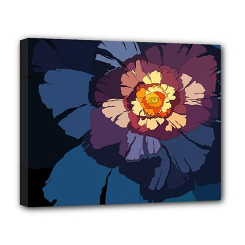 Flower Deluxe Canvas 20  X 16   by oddzodd