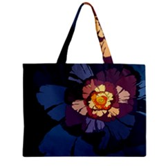 Flower Zipper Mini Tote Bag by oddzodd