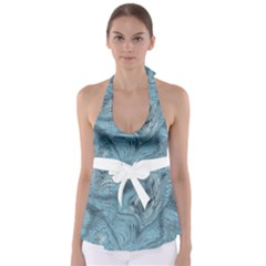 Frost Dragon Babydoll Tankini Top by LetsDanceHaveFun