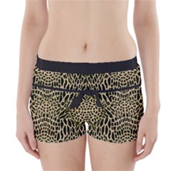 Brown Reptile Boyleg Bikini Wrap Bottoms