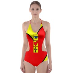 I Love Zouk Cut Out One Piece Swimsuit