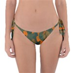 Green and orange camo  Reversible Bikini Bottom
