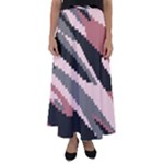Pink digital Camouflage Flared Maxi Skirt